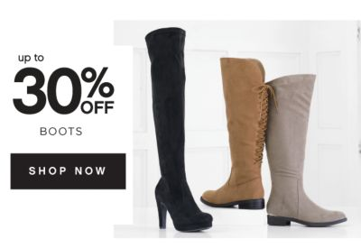 up to 30% OFF BOOTS | SHOP NOW