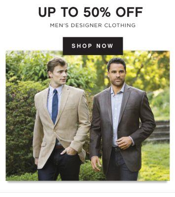 UP TO 50% OFF MEN'S DESIGNER CLOTHING | SHOP NOW