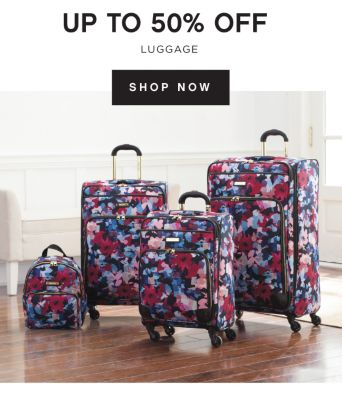 UP TO 50% OFF LUGGAGE | SHOP NOW