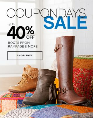 Coupon Days Sale Up to 40% Off Boots