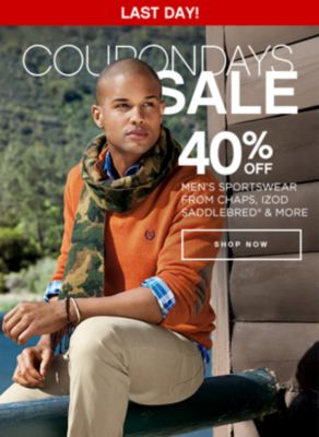 Coupon Days Sale 40% Off Mens Sportswear