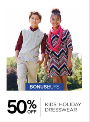 50% Off Kids Holiday Dresswear