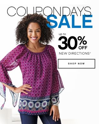Coupon Days Sale Up to 30% Off New Directions