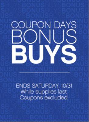 Coupon Days Bonus Buys