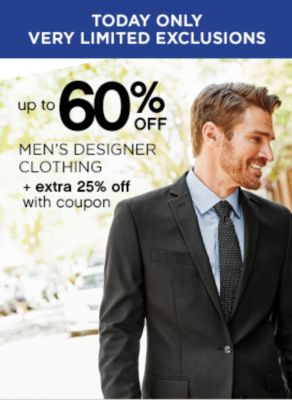 Up to 60% Off Mens Designer Clothing