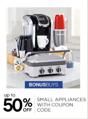 Up to 50% off small applicances