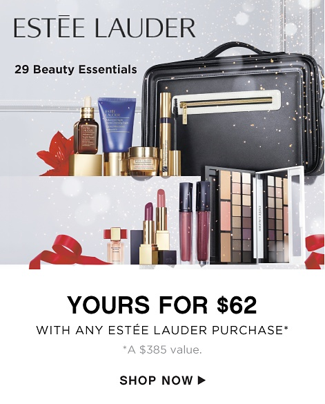 Estee Lauder - 29 Beauty Essentials - Yours for $62 with Any Estee Lauder Purchase* *A $385 value. - Shop Now