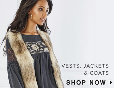 Vests, Jackets, and Coats. Shop Now.