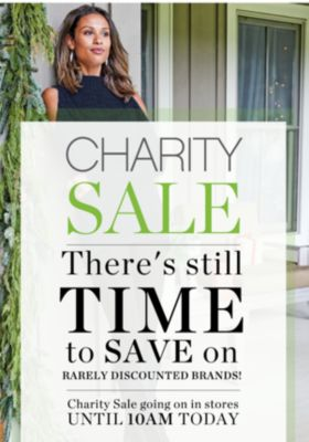 CHARITY SALE | There's still TIME to SAVE on RARELY DISCOUNTED BRANDS! | Charity Sale going on in store | UNTIL 10AM TODAY