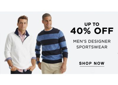 UP TO 40% OFF MEN'S DESIGNER SPORTSWEAR | SHOP NOW