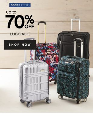 DOORBUSTERS | up to 70% OFF LUGGAGE | SHOP NOW