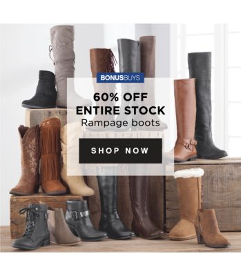BONUSBUYS | 60% OFF ENTIRE STOCK Rampage boots | shop now