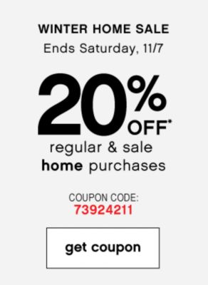 20% Off Winter home sale