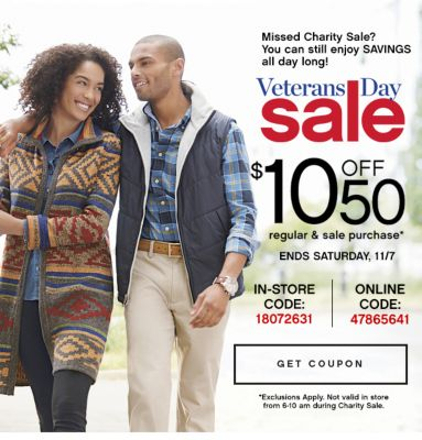 Vertans Day Sale $10 Off $50