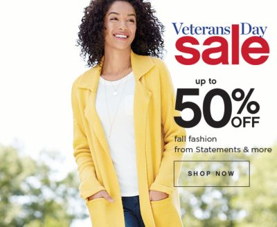Veterans Day Sale Up to 50% Off Fall Fashion