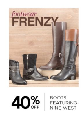 Footwear Frenzy 40% Off Boots