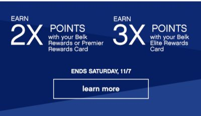 Earn 2x 3x Points Ends 11/7