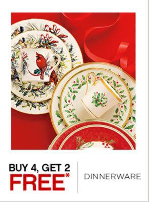 Buy 4 Get 2 Free Dinnerware