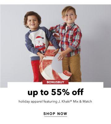 BONUSBUY | up to 55% off holiday apparel featuring J.Khaki® Mix & Match | SHOP NOW