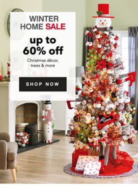 WINTER HOME SALE | up to 60% off Christmas decor, trees & more | SHOP NOW