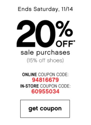 20% Off Sale Purchases
