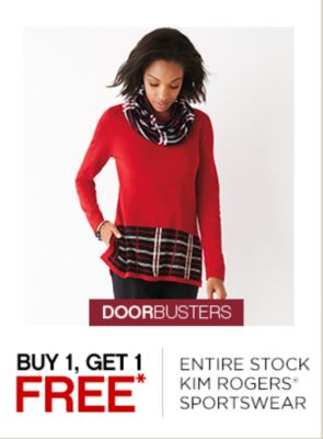Buy 1, Get 1 Free Kim Rogers Sportswear