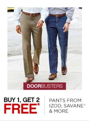 Buy 1 Get 2 Free Pants from IZOD, Savane & More