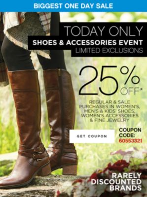 shoes and accessories event coupon