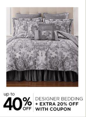 Up to 40% Off Designer Bedding