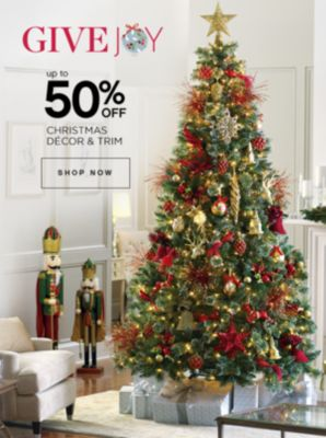 Up to 50% Off Christmas Decor and Trim