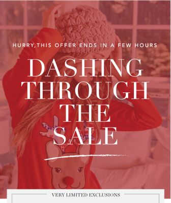 HURRY, THIS OFFER ENDS IN A FEW HOURS DASHING THROUGH THE SALE