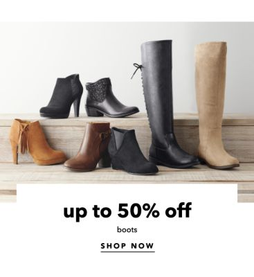 up to 50% off boots | SHOP NOW