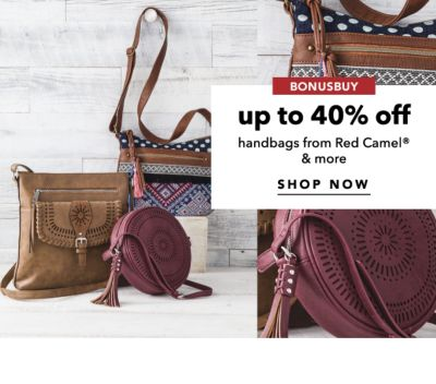 BONUSBUY | up to 40% off handbags from Red Camel® & more | SHOP NOW