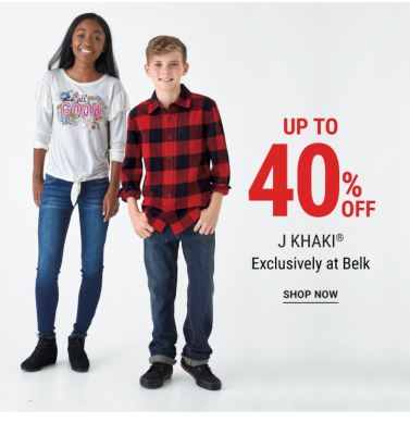 Up to 40% off J. Khaki® - Exclusively at Belk. Shop Now.