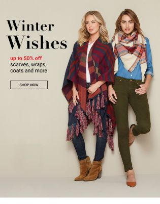 Winter Wishes - Up to 50% off Scarves, Wraps, Coats and more - Shop Now