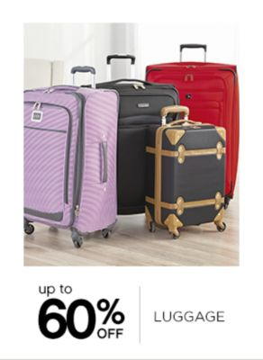 Up to 60% Off Luggage