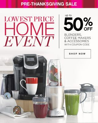Up to 50% off blenders coffee makers accessories