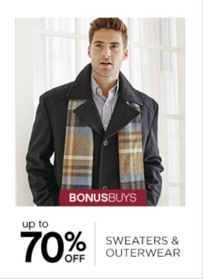 Up to 70% Off Sweaters and Outerwear