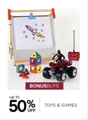 Up to 50% Off Toys and Games