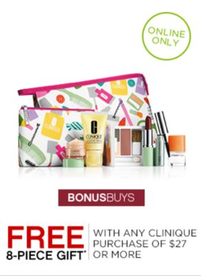 Free 8-Piece Gift with Clinique Purchase