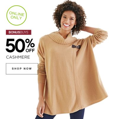 50% off Cashmere