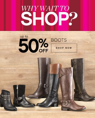 Up to 50% Off Boots