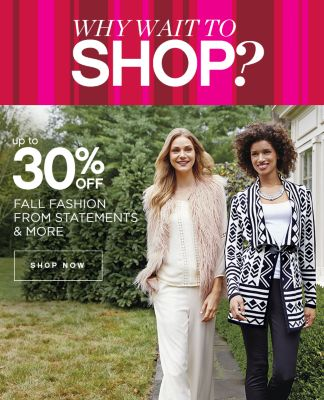 Up to 30% Off Fall Fashion