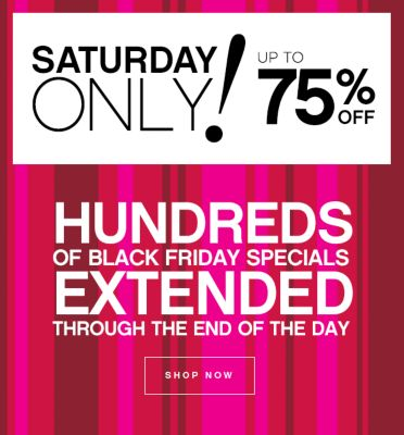Black Friday Specials Extended