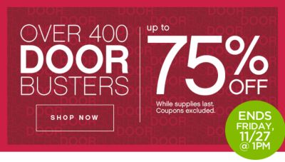 Up to 75% Off Door Busters