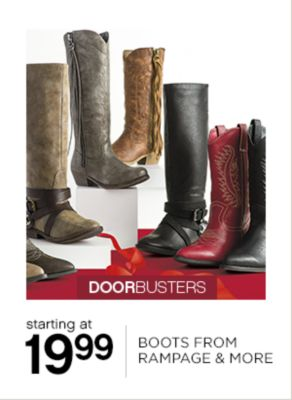 19.99 Boots from Rampage and More