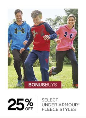 25% Off Select Under Armour Fleece