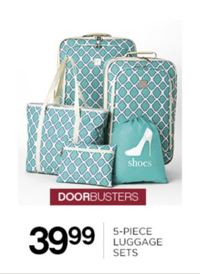 39.99 5-Piece Luggage Sets