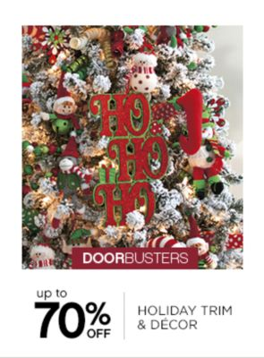 Up to 70% Off Holiday Trim And Decor