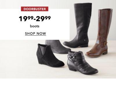 DOORBUSTER | 19.99-29.99 boots | SHOP NOW